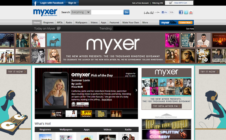 Myxer free ringtones download
