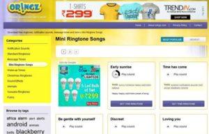 Oringz.com ringtones download