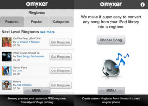 Myxer Free ringtones app for iPhone download.