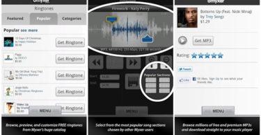 Myxer Free ringtones app for iPhone download.