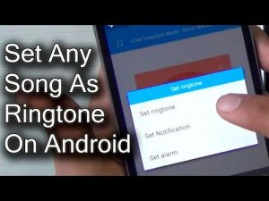 How to make a song a Ringtone on Android